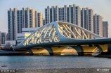 2018年2月23日,青岛新地标――珊瑚贝桥在黄海之滨的春日里散发着独特的魅力。