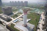 2018年4月17日,西安,全球首个多技术结合的空气净化塔实验项目发布阶段性成果,实验初步结果:在塔内对空气的过滤效率可以达到80%以上。