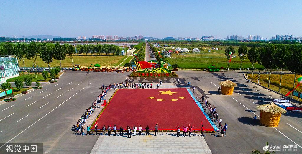 """巨幅粮食画被认证为""""最大谷物粮食画"""" 吸引游客参观"""