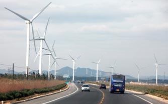 荣成新能源成为滨海一幅美丽的景色