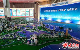 网媒记者参观滨海经济开发区规划展厅