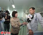 手术结束后,乔彬所长接受大众网等媒体的采访