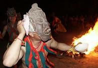 屯堡大汉族的祭祀仪式上的傩面舞蹈