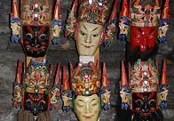 屯堡大汉族傩戏中的傩面具