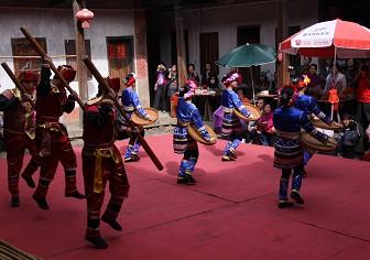 高山族舞蹈表演