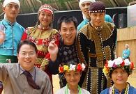 施晓亮与台湾少数民族合影