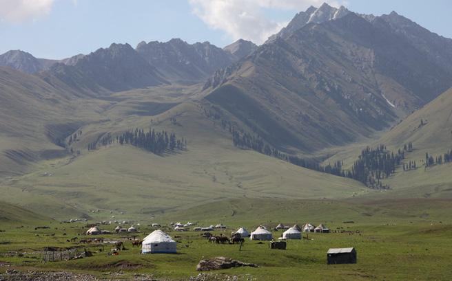 哈萨克牧民的家园