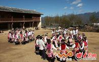 十年前照片:傈僳族瓦器器舞蹈