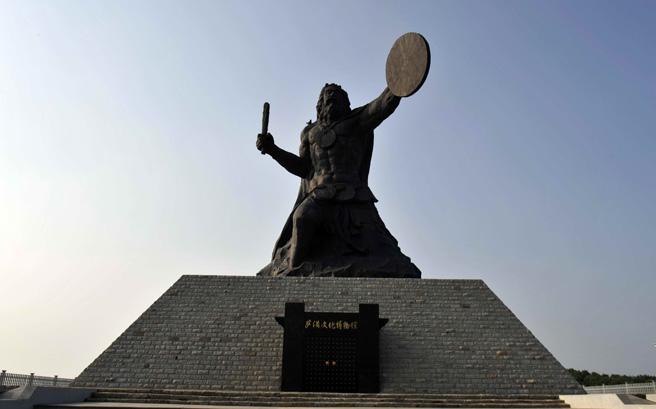 亚洲最大的萨满教铜像