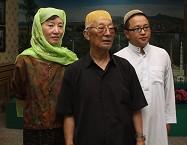保进贵老人和他的三女儿以及外孙马浩然