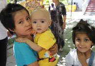 可爱的乌孜别克族儿童