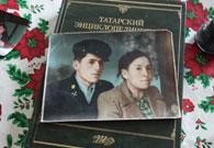伊力亚尔老人和妻子年轻时的照片