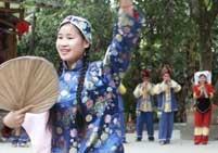 9年前的照片,宜州彩调《说媒》