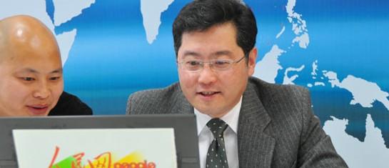外交部发言人、新闻司司长秦刚做客强国论坛