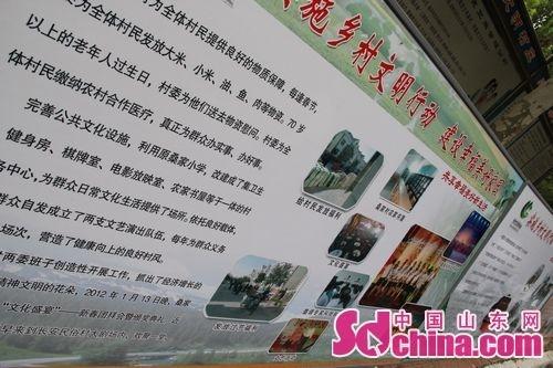 桑家庄村实施乡村文明行动宣传展板.