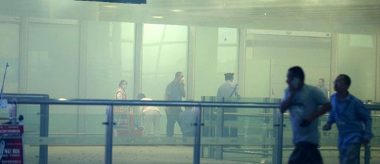 首都机场T3航站楼发生爆炸