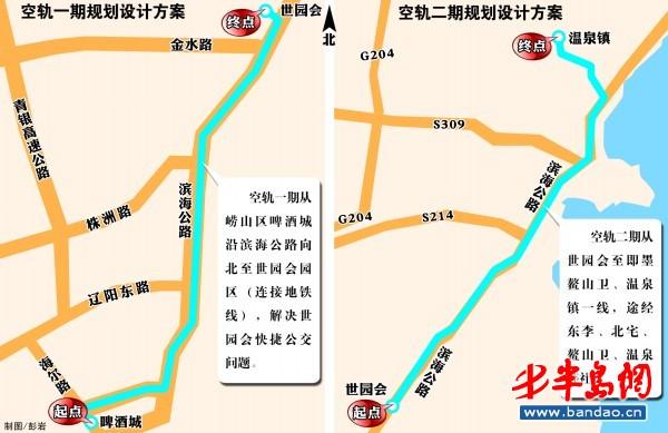 崂山风景区经典路线图