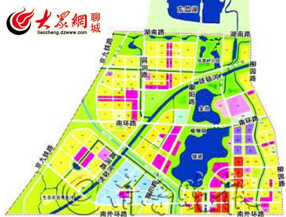 聊城凤凰湖生态旅游度假区整体规划图高清图片