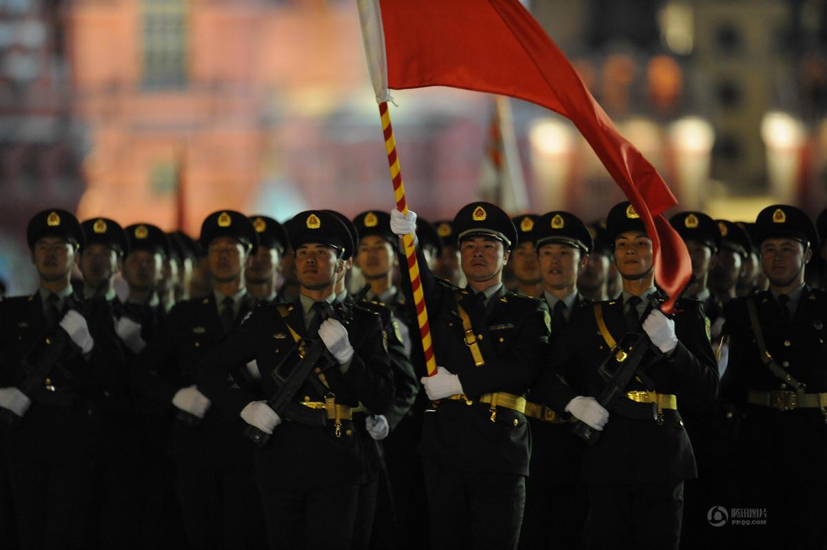 俄罗斯红场阅兵我国仪仗队排外国方阵之首