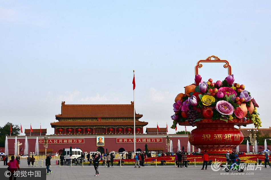 北京全市景观布置 迎十九大召开