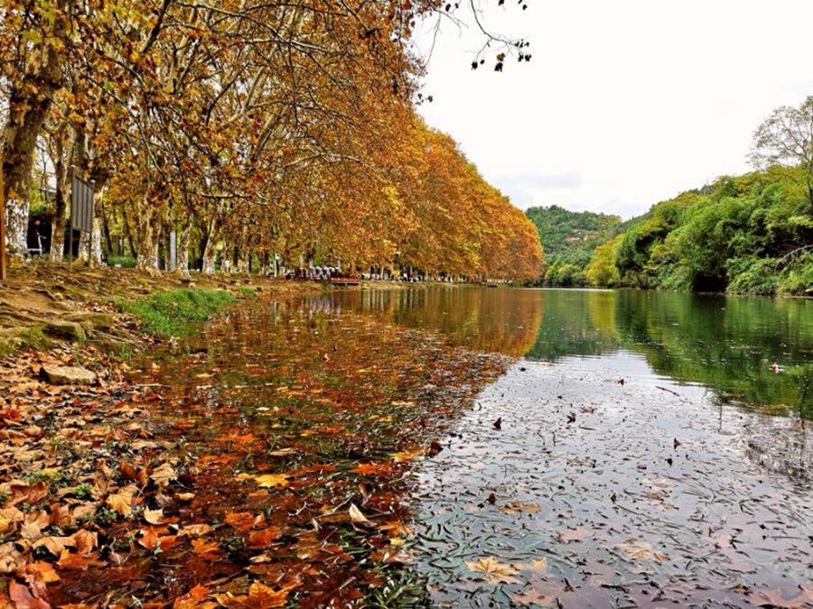 花溪黄金大道,贵阳人的秋游胜地,位于风景秀丽的花溪河畔,两岸是