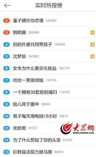聚热小南今日时事热搜榜 20180110