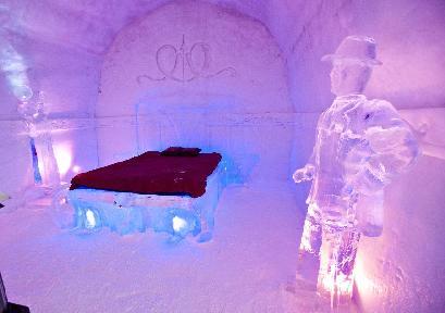 魁北克的冰雪酒店