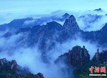 黄山出现壮观云海