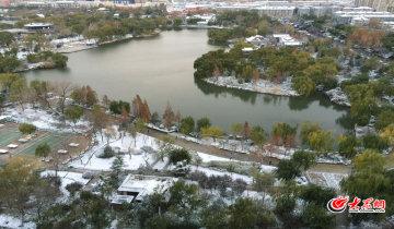 济南雪后的大明湖