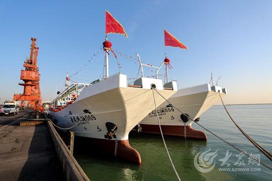 日照新建四艘远洋渔船向太平洋 大西洋启航
