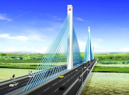 济南黄河五桥昨奠基开工2010年建