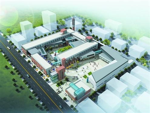 建成后的西街工坊文化创意产业园效果图图片