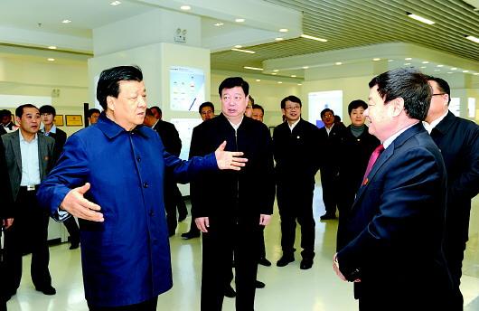 11月15日,刘云山到威高集团调研.