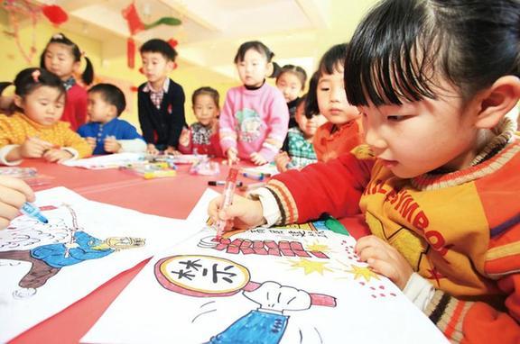"""山东省即墨市即发幼儿园的小朋友们开展了"""""""