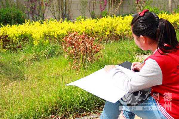 陵城举办少儿绘画比赛 百童春日绘春色图片