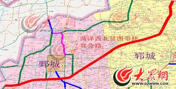 菏泽地图高清版大地图