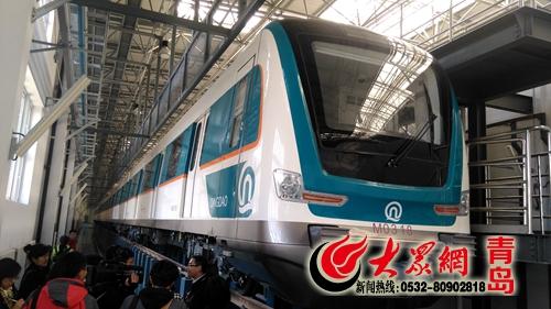"""青岛地铁车辆突出""""青岛蓝"""" 创三项国内第一"""