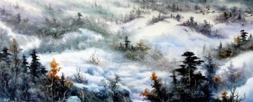 季世山——巨幅山水油画的集大成者