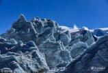 """2016年11月10日,西藏浪卡子县岗布冰川,岗布冰川,由于地处中国与不丹王国40号界碑,也被叫做形象的叫做""""40冰川""""。"""