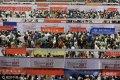 2017年6月25日,山东省济南市在山东大学中心校区体育馆,来自全国80所985&211重点大学组团举行精品高招会。吸引了全省万余名高分考生从各地赶来。