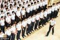 2017年6月11日,四川广汉,飞行专业的学生正在集合。中国民航飞行学院飞行专业每年培养上千名飞行员。