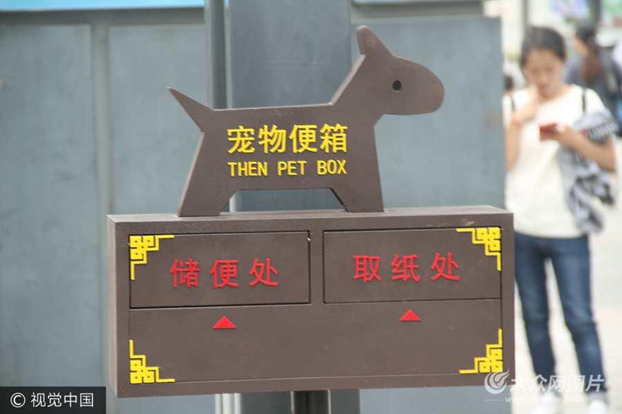 """""""宠物便箱""""亮相济南街头"""