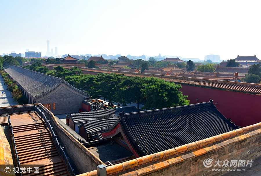 故宫北城墙对游客开放