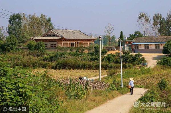 男子花费300万农村建别墅  外形犹如宫殿