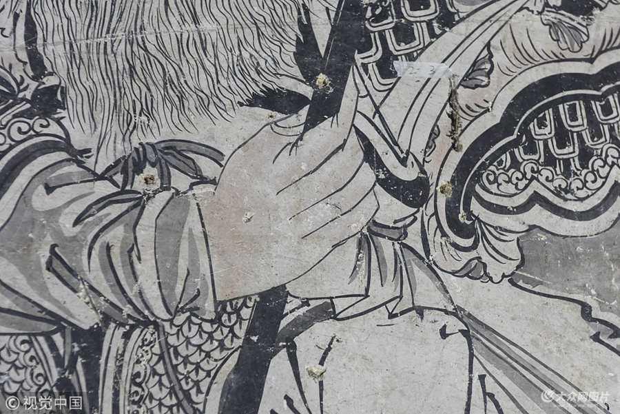 济南:宋代寺庙隐秘养殖场内  仅剩大殿壁画非常精美