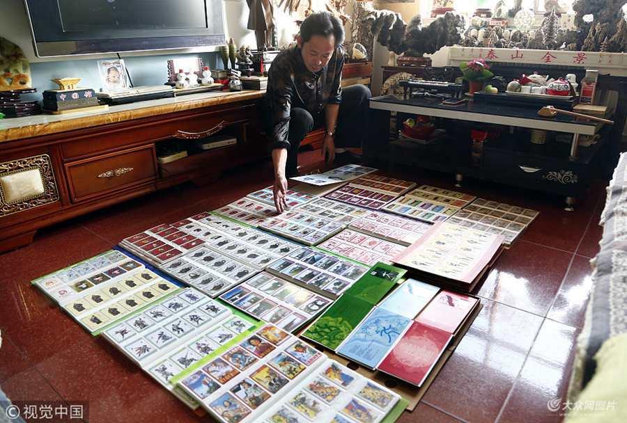 泰安市民收藏上万张电话卡