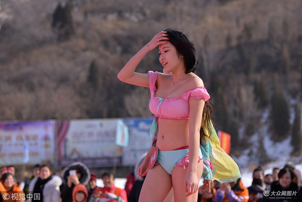 济南举办冰雪美人大赛
