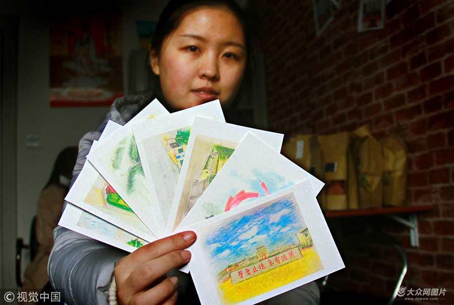 威海:大学生巧用情怀赚大钱 校园风光做包装卖海鲜日入千元