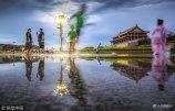2018年7月16日,北京暴雨过后,天安门广场美景如画。