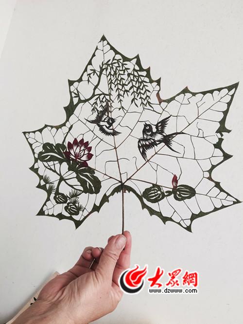 济南叶雕真奇幻,小树叶蕴藏大世界